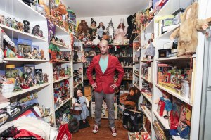 Walter Krueger, 28, from near Chicago, Il., is such a big fan of The Wizard of Oz that he has spent more than £120,000 on memorabilia
