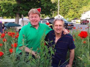 John Fricke and Bronson Pinchot at Oz-Stravaganza (photograph by Colleen Baldwin)